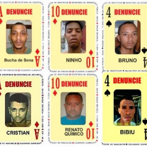 SSP divulga novas cartas do Baralho do Crime