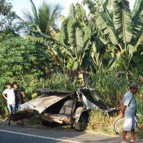 Acidente de trânsito em Gandu deixa quatro mortos