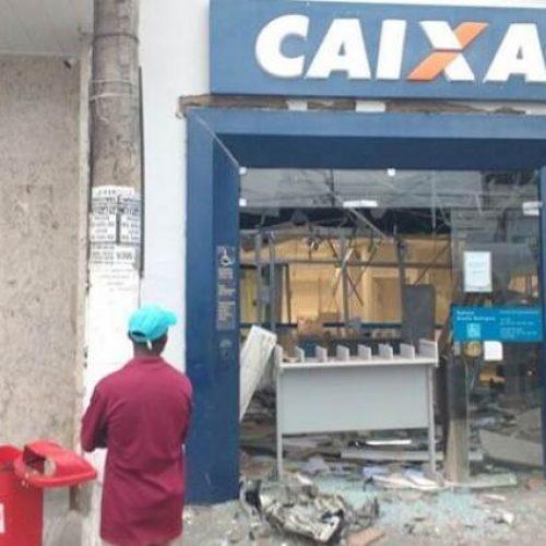 Amélia Rodrigues: Explosão a banco derruba teto de agência e deixa caixas destruídos