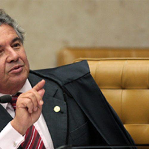 Marco Aurélio se declara impedido de julgar processos de um escritório
