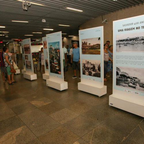 Exposição nas estações do metrô celebra aniversário de Salvador