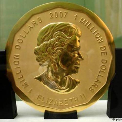 Moeda de ouro com 100 kg é roubada de museu em Berlim