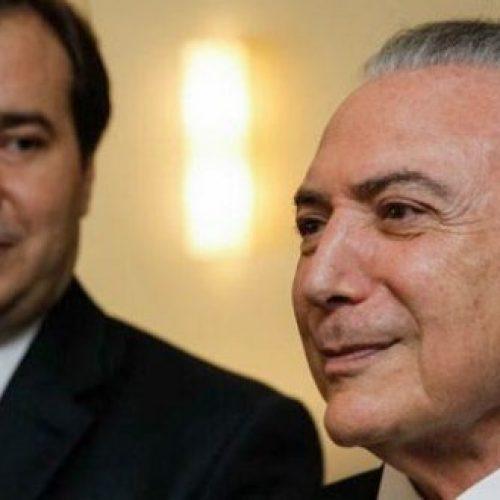 Temer tem reunião com Rodrigo Maia no Palácio do Jaburu