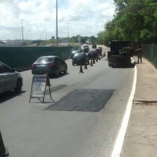 Após chuvas, prefeitura realiza operação tapa buraco