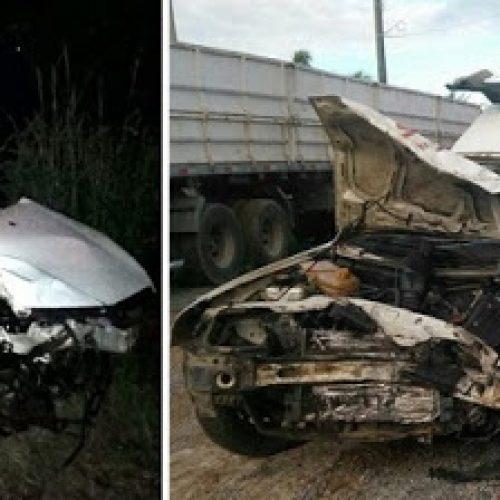 Laje: Colisão entre ambulância e carro deixa um morto e dois feridos