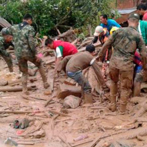 Sobe para 321 total de mortos em decorrência de chuvas na Colômbia