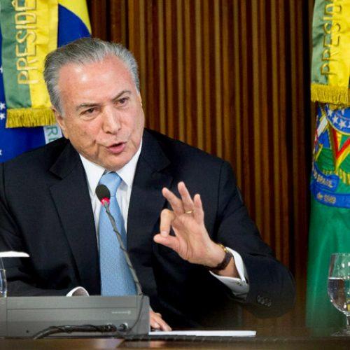 'Quero ser conhecido como o presidente das grandes reformas', diz Temer