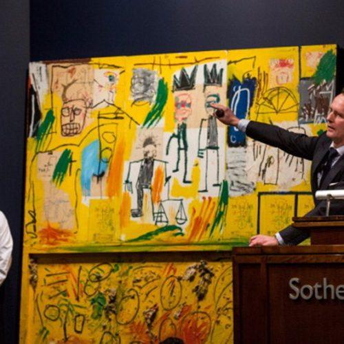 Obra de Basquiat é vendida por R$ 372 milhões em Nova York