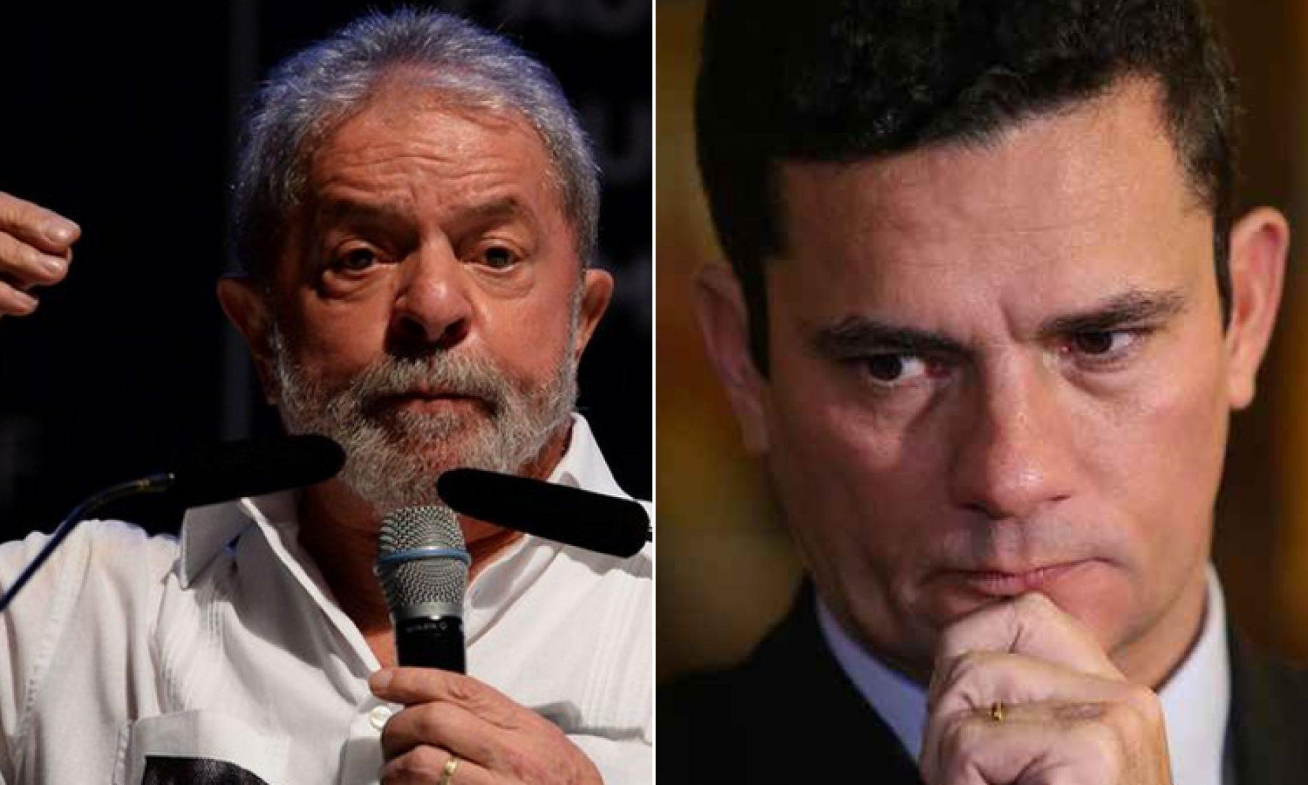 Pela primeira vez, Moro e Lula se encontram pessoalmente