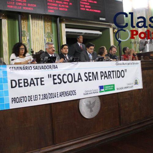 """Seminário """"Escola Sem Partido"""" é realizado  na Câmara de Salvador; assista"""