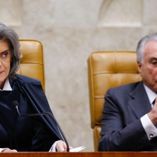Cármen Lúcia classifica como crime suposta espionagem a Fachin