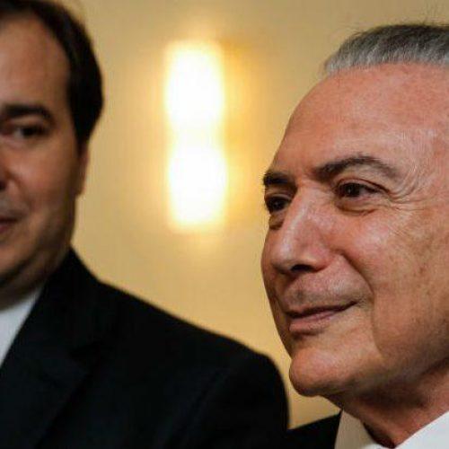 Temer se reúne com Rodrigo Maia no Palácio da Alvorada