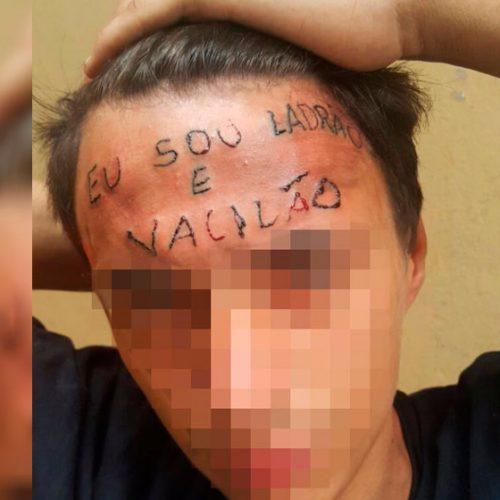"""""""Vou ser um novo rapaz"""", diz adolescente que teve a testa tatuada"""