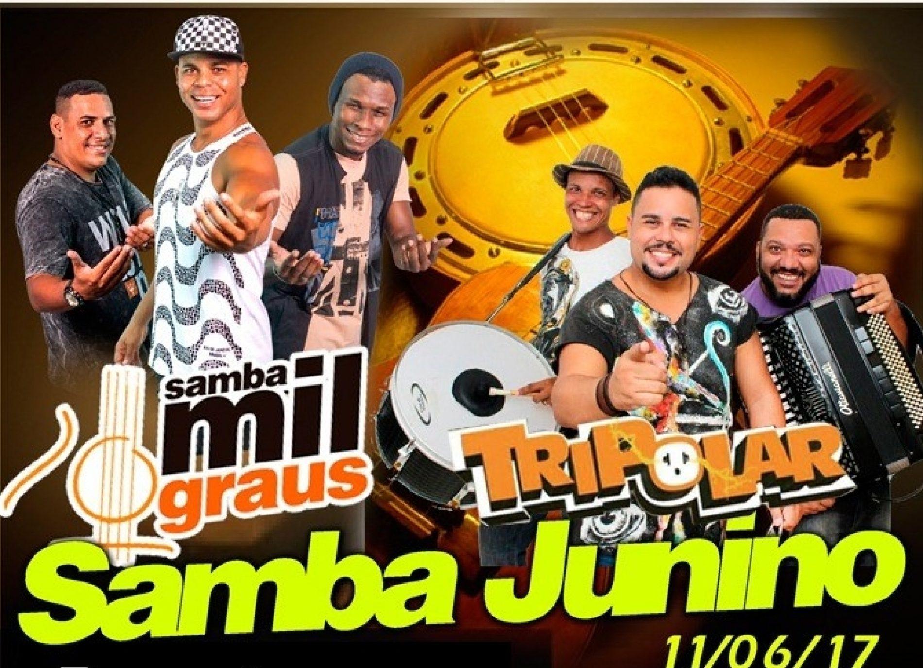 Tripolar e Samba Mil Graus animam Samba Junino neste domingo na Boca do Rio