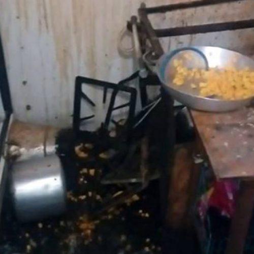 Conquista: Panela de pressão explode e funcionária de restaurante tem rosto queimado