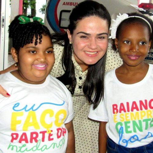 Primeira-dama visita obras de requalificação do Hospital Martagão Gesteira
