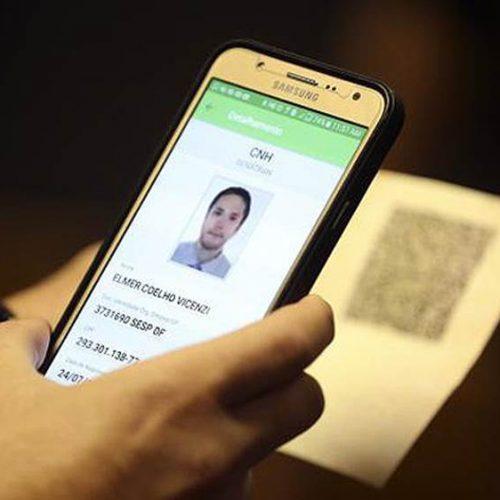 Versão eletrônica da CNH para celular estará disponível em 2018