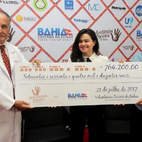 Voluntárias Sociais entregam R$ 764 mil ao Hospital Aristides Maltez
