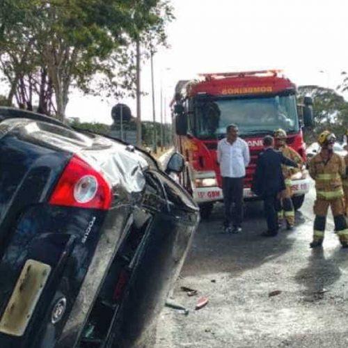 Carro que levava filho de Temer sofre acidente; não há feridos