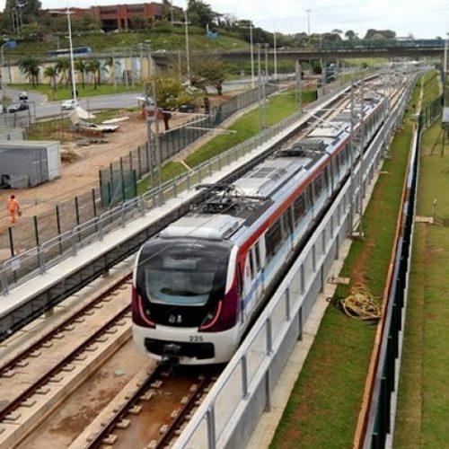 Trecho do metrô entre as estações Pituaçu e Mussurunga entra em fase final de testes
