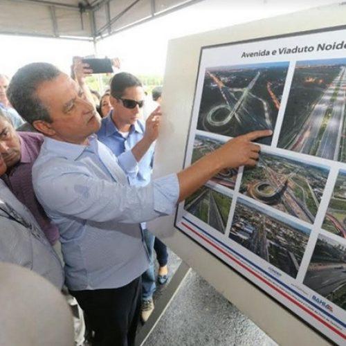 Rui Costa inaugura viaduto em Feira de Santana