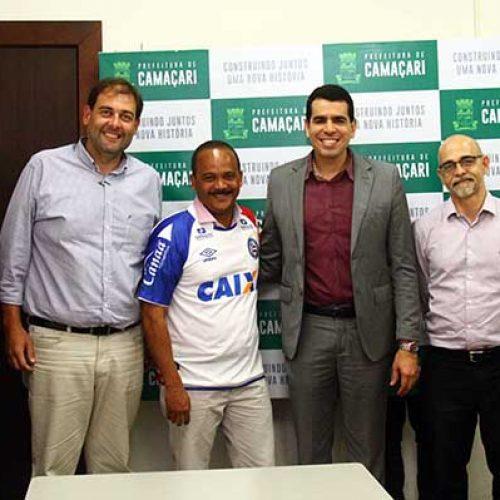 Cidade Tricolor : Esporte Clube Bahia e prefeitura de Camaçari reforçam parceria