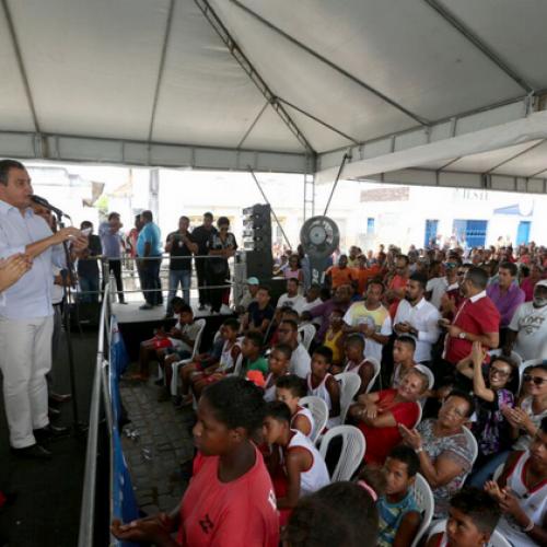 Rui Costa autoriza obras do Centro para Canoagem no município de Ubatã
