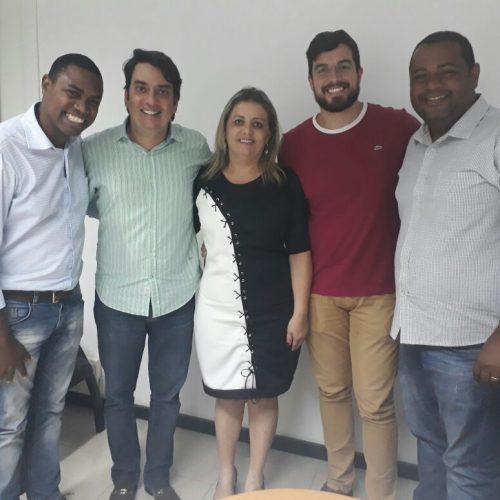 Pedro Tavares discute ações com integrante de núcleos do PMDB