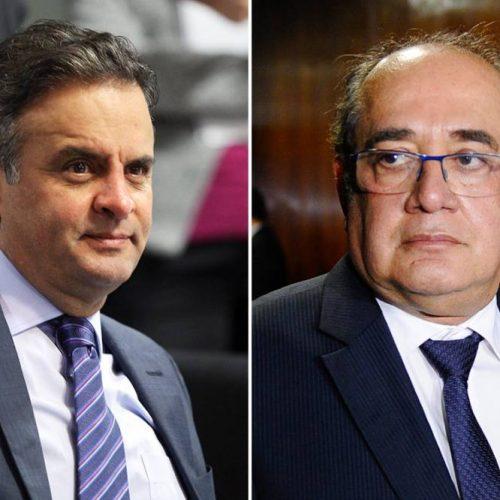Relatório da PF aponta 43 chamadas telefônicas entre Aécio e Gilmar Mendes