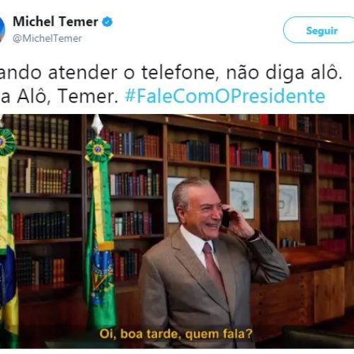Após ter número do celular divulgado, Temer lança #FalecomOpresidente
