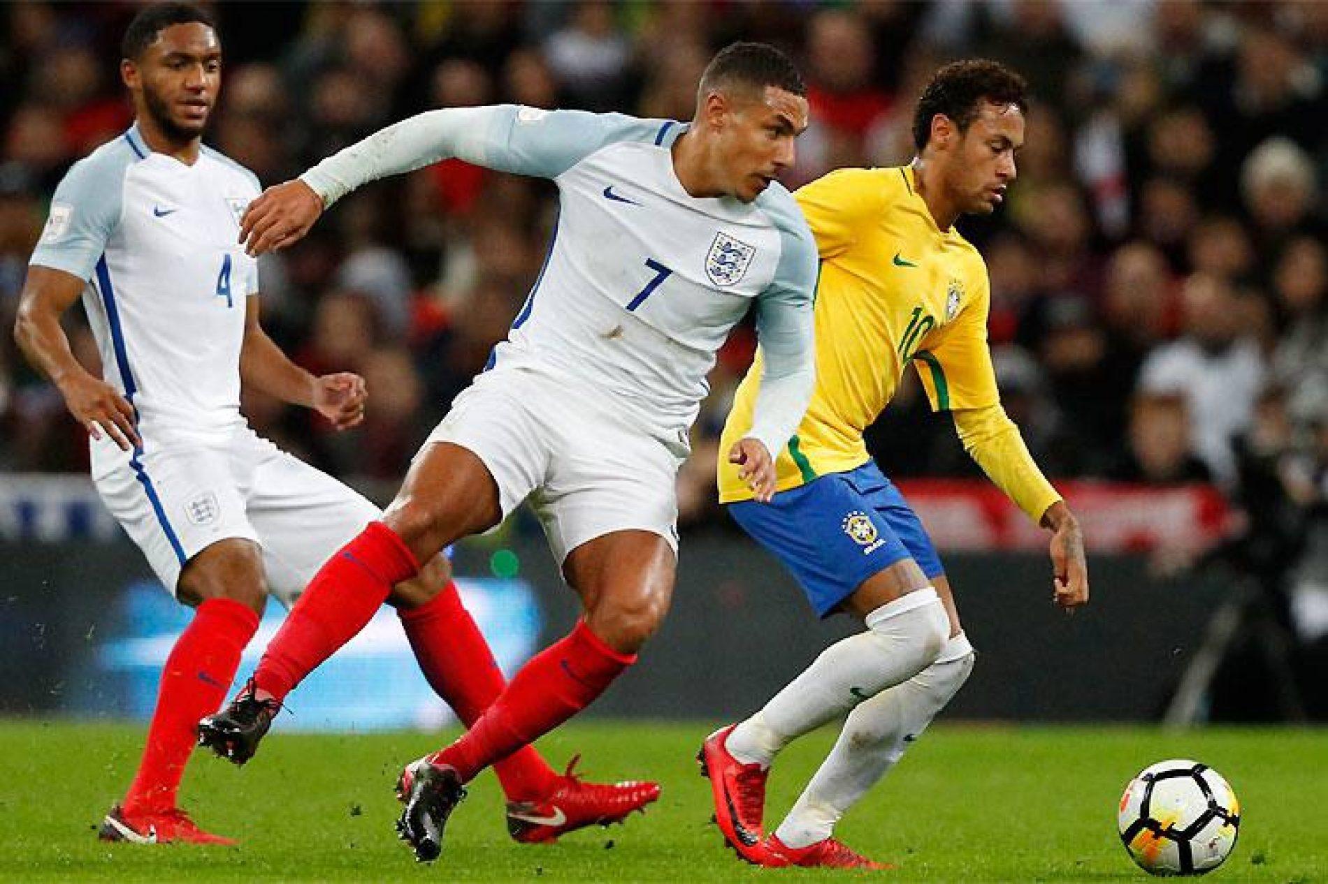 Brasil esbarra em rígida defesa e fica no empate com Inglaterra em Wembley