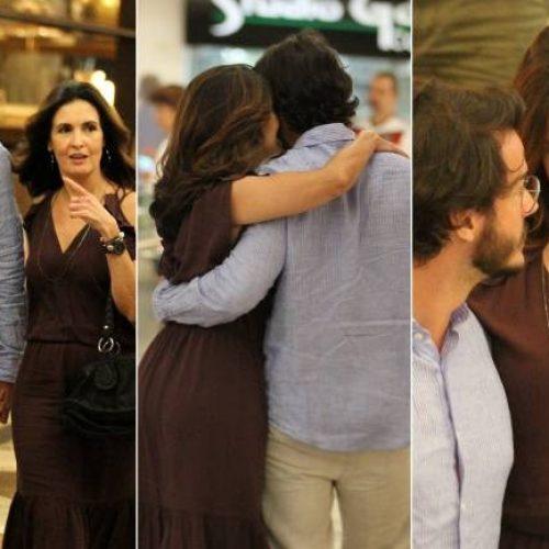 Namorado de Fátima Bernardes tem 29 anos e foi flagrado com ela em shopping