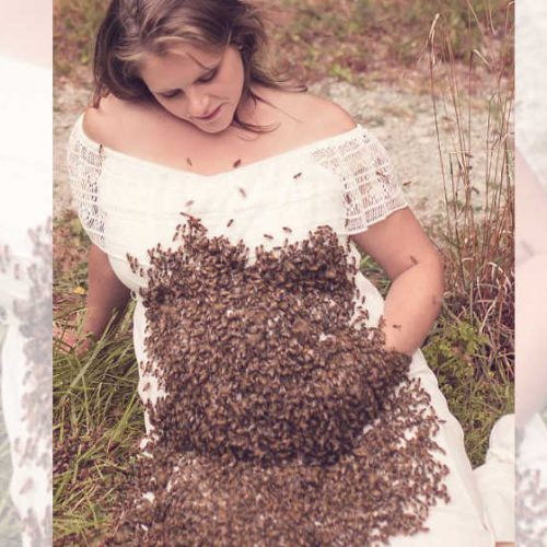 Filho de grávida que posou com 20 mil abelhas na barriga nasce morto