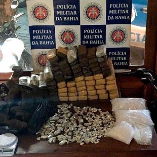 Polícia Militar apreende 85 quilos de maconha em Arraial d'Ajuda