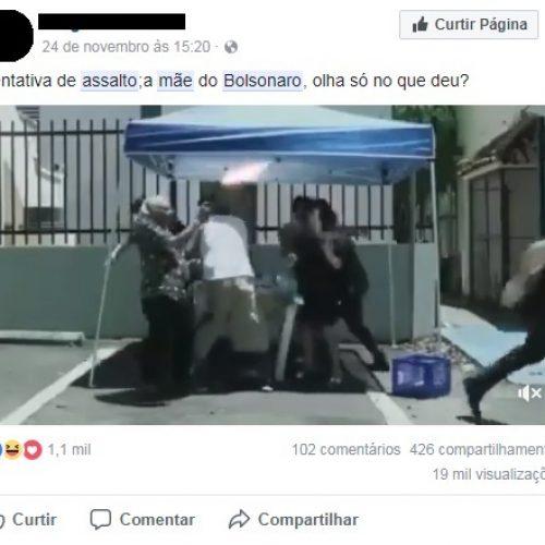 Vídeo mostra mãe de Jair Bolsonaro sendo assaltada?