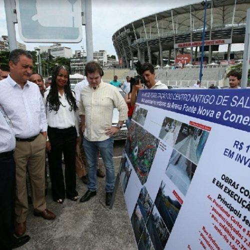 Rui entrega obras de requalificação com acessibilidade no entorno da Arena Fonte Nova