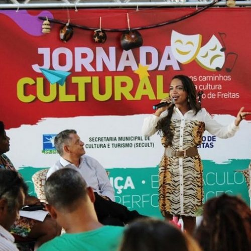 Presença expressiva da classe artística marca abertura da Jornada Cultural em Lauro de Freitas