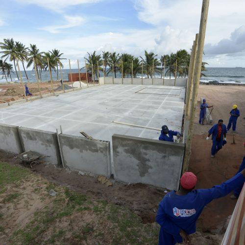 Obras no entorno do Farol de Itapuã estão 40% concluídas