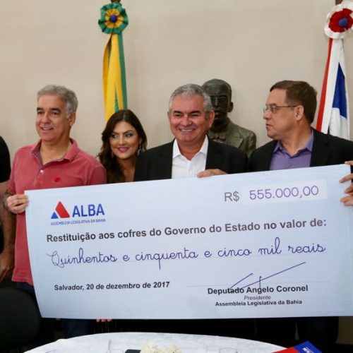 Coronel encerra ano legislativo, dispensa suplementação e ainda restitui R$ 555 mil aos cofres do Governo do Estado