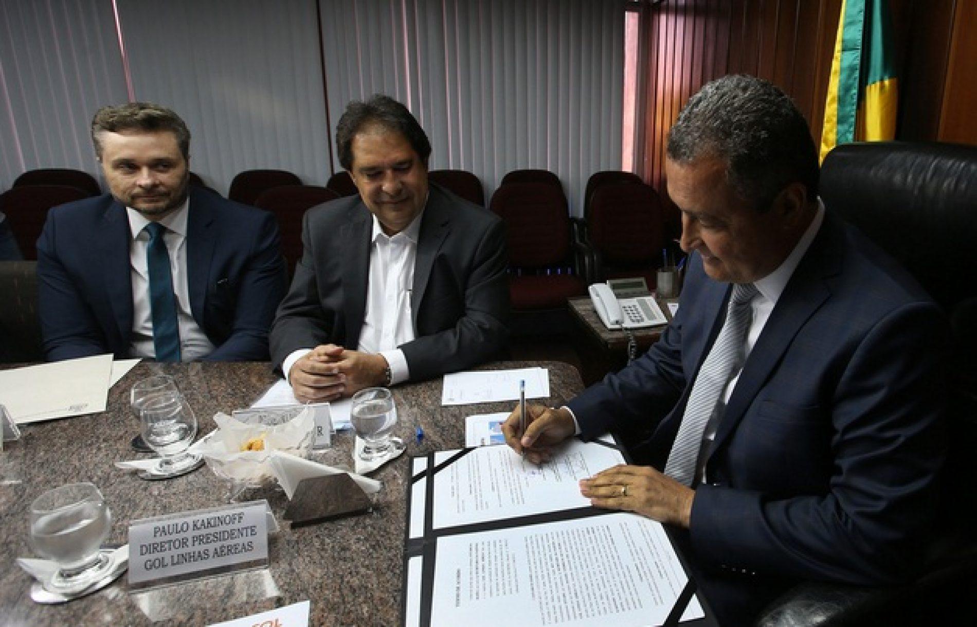 Governador Rui Costa assina acordo que garante novo voo de Salvador para Argentina