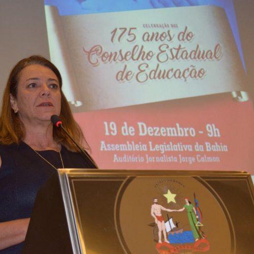 Deputada Fabíola Mansur saúda os 175 anos do Conselho de Educação