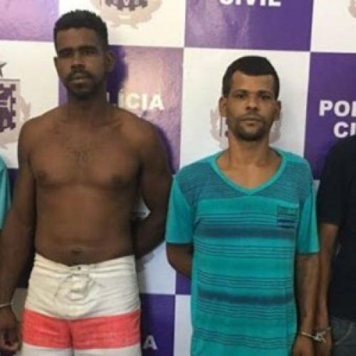 Quatro suspeitos de tráfico de drogas são presos em Coaraci