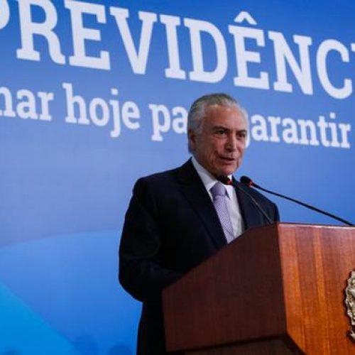 """Temer diz que adiamento da reforma da Previdência foi """"ótimo"""""""