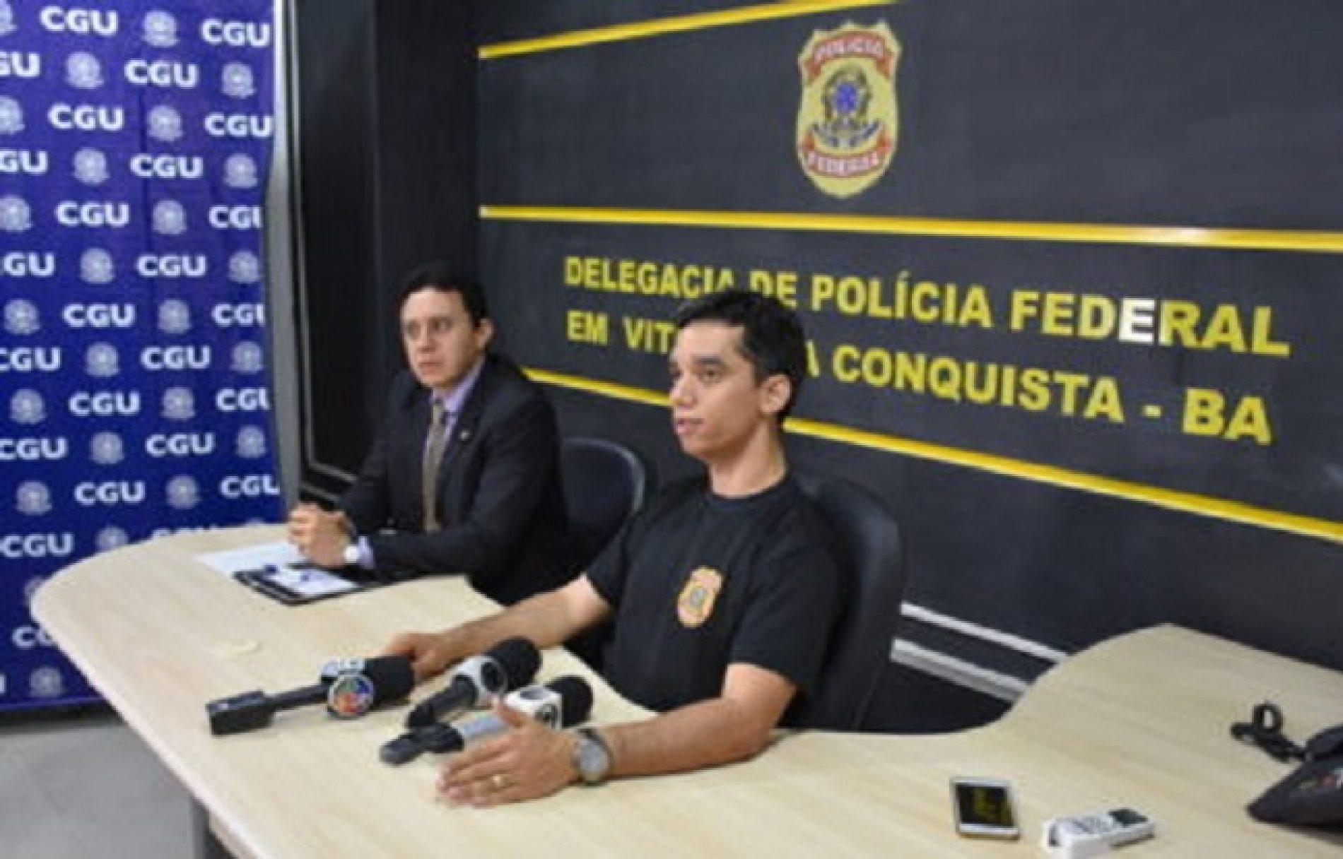 Veja vídeo; Polícia Federal e CGU explicam desvios dos recursos da Educação em Jequié