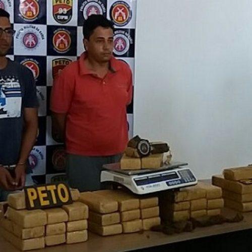 Operação policial na região de Maracás apreende 40 kg de maconha