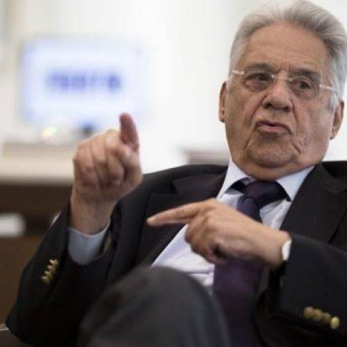 """""""Nem o PT nem Bolsonaro"""", diz FHC sobre apoio no 2º turno"""