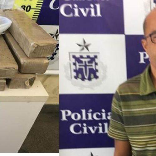 Policiais civis apreendem 15 quilos de maconha em Feira de Santana