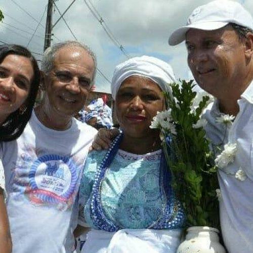 """ACM Neto é um 'popstar' em toda a Bahia"""", dispara Gualberto durante Bonfim de Mata"""