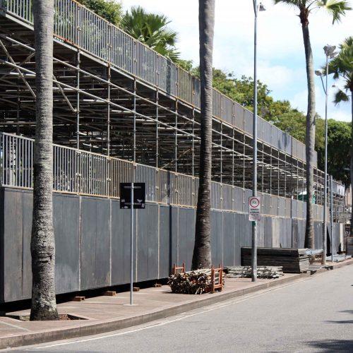 Carnaval de Salvador: Montagem das estruturas do circuito Osmar termina segunda