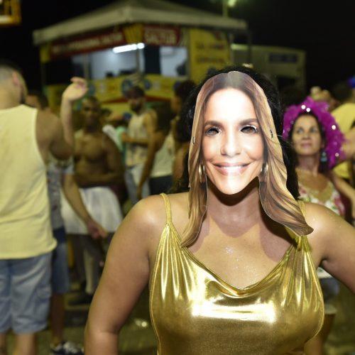 No Carnaval da fantasia, até Ivete marcou presença